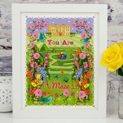 A4 Unframed Illustration Print 'You are a Maze In'